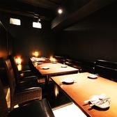 間接照明が優しく灯る個室空間でゆっくりと時が経つのをお愉しみください!