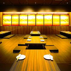 昼宴会・深夜宴会等時間外御予約もご相談ください。70ー104名様御案内できる大宴会場は掘りごたつとなっており可動式のテーブルなのでベストの席作りが可能です★音響・空調・照明などの調節も可能!!