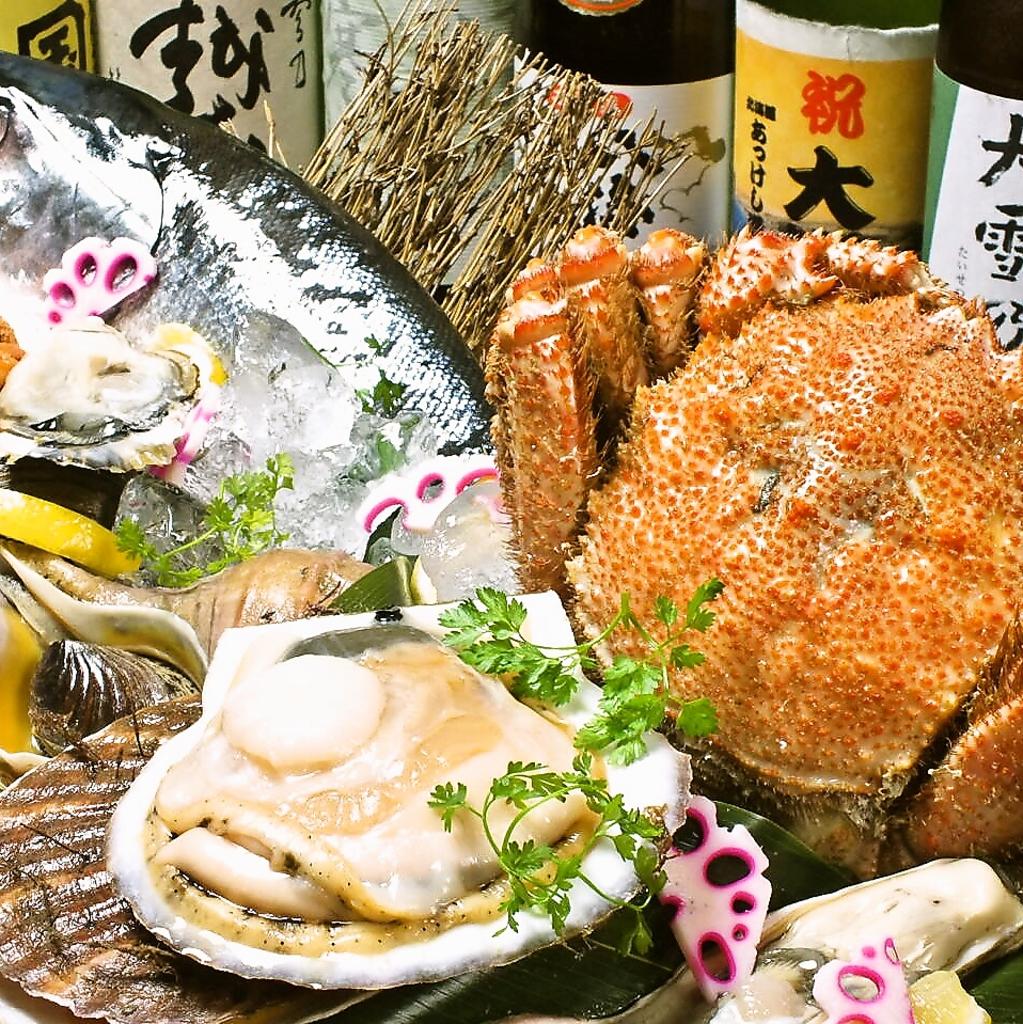 新鮮な魚介を厚岸から直送!!ブランド牡蠣で有名!!獲れたて海鮮なら祐一郎にお任せ!!