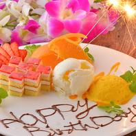 【歓送迎会・誕生日会に】デザートプレートサービス
