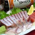 料理メニュー写真タイ・ぶり・イカ・サーモン/ヒラメ・タコのぶつ切り/生マグロ(限定品)