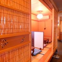 完全個室は小上がり席と奥のお座敷も有り!