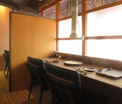 2名様専用カウンター半個室(カップル席)。お肉好きのお相手さんと水入らずでお過ごし頂けます。