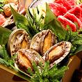 【毎日入荷の新鮮な海の幸をご堪能あれ】◆築地直送の新鮮魚介◆築地直送の新鮮な旬の海鮮を毎朝仕入れます♪素材の鮮度には徹底的にこだわり抜きました!活きアワビ、マグロ、サーモン、帆立など新鮮そのものをご提供いたします!「海の幸、お刺身、直送」。ご接待からお祝いのお席にも対応しております