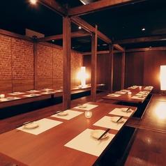 最大130名様まで個室にご案内。ご宴会に合わせた最適なお部屋をご用意致します。※写真は系列店