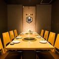 【最大8名様迄のテーブル個室】少人数から、人数に応じて最大32名様迄御対応致します。