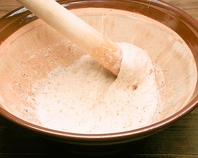 自然薯のとろろ と 自家製七穀米
