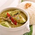 料理メニュー写真ゲーンキャオワンガイアボカド 鶏肉とアボカドのグリーンカレー