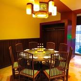 【10名様までの会食に】中華料理の定番、円卓を2卓ご用意。10名様まで向かい合ってご会食できます♪