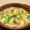 料理メニュー写真マッシュルームのアヒージョ ~セゴビア風~ 生ハムと白ワインのソース