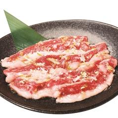 料理メニュー写真黒毛和牛の切り落とし (秘伝の塩ダレ)