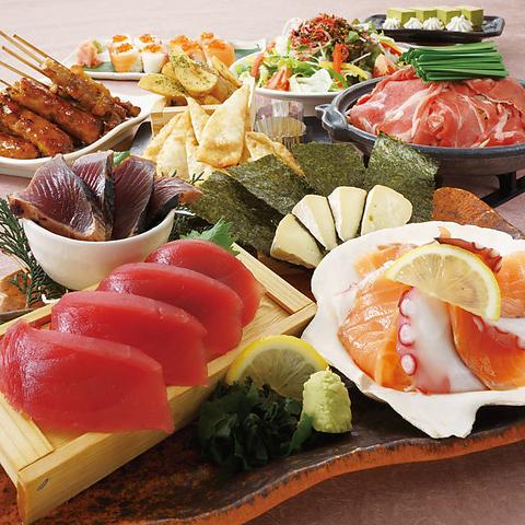 【こだわりコース】ラムの陶板蒸しやサーモンの親子棒寿司など全7品 2H飲み放題付き 4000円