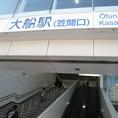 1.【大船駅笠間口】でございます。