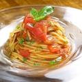 料理メニュー写真トマトとバジルのスパゲッティ