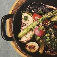有機野菜など、身体にやさしい食材を使っております。