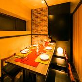 お洒落なお食事と空間で特別な時間をお過ごしください。細部までこだわり抜いた個室席をご人数に合わせてご用意させていただきます。ご相談・ご要望はお気軽にスタッフまでお申し付けください。