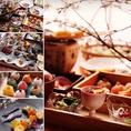 彩り豊かな料理でお客様をおもてなし致します。