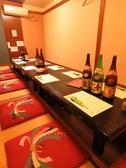 8名~14名でもご利用頂ける掘りごたつ個室。ゆったり個室で宴会されたい幹事様にお勧めのお部屋です。