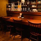 調理風景が見えるカウンター席は、お一人様でしっぽりお酒を飲むのに最適。また、デートやご夫婦でのお食事などお二人様でのご利用にもおすすめです。落ち着いた雰囲気で、ゆったりとお食事をお楽しみください。