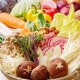 常時十数種類の季節野菜をフードバーにてご提供しています。野菜は二次加工品を使わず、毎日直送された野菜をお店で仕込んでいるから毎日新鮮な野菜が食べられます♪