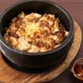 料理メニュー写真燃える!石焼きしびれマーボー豆腐丼