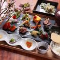 好評 お昼の花見コース「手織り寿司コース」 2000円~ ご用意