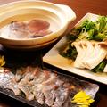 料理メニュー写真たっぷり水菜の貝鍋