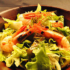 料理メニュー写真合鴨とグレープフルーツの旬野菜サラダ