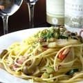 料理メニュー写真【オイル】 ペペロンチーノ・キャベツとアンチョビ・きのこと梅・生ソーセージと茄子