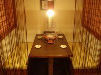 雰囲気の良いテーブル席