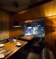 夜景の見える完全個室【LODGE-ロッジ】最大8名様用。接待でのご利用に最適のワンランク上の上質な空間をご提供致します。もちろん社内の飲み会・ご宴会にもご利用頂けます。上質な空間・料理・ドリンク・おもてなしで大切な夜を演出致します。
