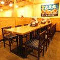 豊富なテーブル席はご来店の人数に応じてレイアウトも可能です!お気軽に相談ください