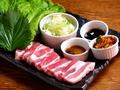 料理メニュー写真国産サムギョプサル