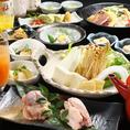 焼き物やおばんざい、お造りなどの旬素材を存分に使った料理が楽しめるコースをご用意!宴会にもピッタリ☆