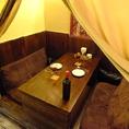 4人掛けソファ―の完全個室!まるで自宅にいるかのように寛ぐことが出来ます。