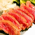 料理メニュー写真牛ステーキ ポン酢
