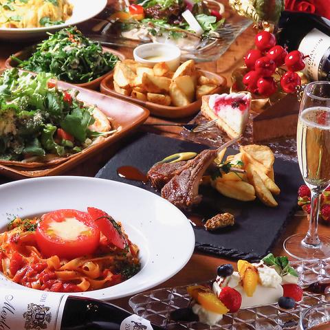 いつもよりちょっと贅沢に☆おしゃれな空間でおいしい食事を☆コースもご用意☆