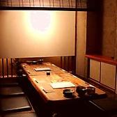 【8名様用の掘りごたつ半個室】落ち着きます。ゆったり足を伸ばせるお席なので、くつろいでお食事をお楽しみいただけます。栄での会社宴会・合コン・飲み会・接待などにご利用下さいませ!