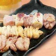 絶品焼き鳥おまかせ3種盛り(若鶏・鶏皮・せせり)★