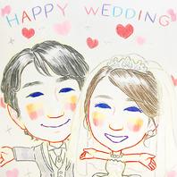似顔絵など結婚式2次会パーティー特典多数♪