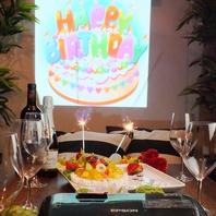 誕生日・記念日に♪メッセージ付デザートプレート無料☆