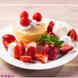 朝採れ完熟イチゴがどっさり乗ったパンケーキ ♪