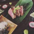 料理メニュー写真宮崎県産 黒毛和牛雌イチボのたたき