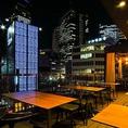 テラス席が増えました★名駅の夜景をみながらのお食事を♪2名席から、グループにおすすめの4~6名席など人数に合わせてご利用いただけます。