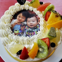 好きな写真やイラストが入る!!世界に一つだけのケーキ