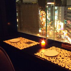 梅田の夜景を2人占め…