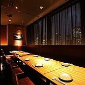 テーブル完全個室。最大16名様まで。