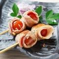 料理メニュー写真プチトマトベーコン串(2本)