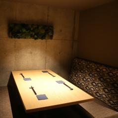 4名様までご利用可能な半個室席。