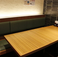 【1階個室風テーブル席】5、6名様向けの半個室風のお席。小規模の会食は当店にお任せください◎各種食事会にぴったりの飲み放題付プランもご用意しておりますので、会社会食や接待にもおすすめしております。お席に仕切りがあり、プライベートなく空間でお食事が楽しめます。お話もしやすい空間の当店ごゆっくりお食事を。